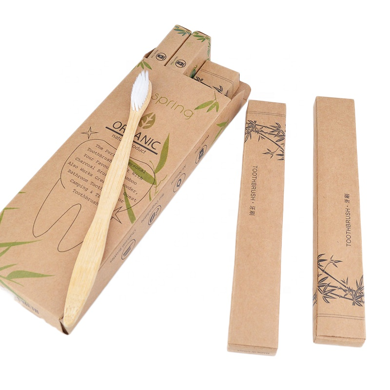 Amazon hot selling 2020 Eco-Friendly Natural Biodegradable Charcoal wooden <strong>bamboo</strong> toothbrush 4sets packed