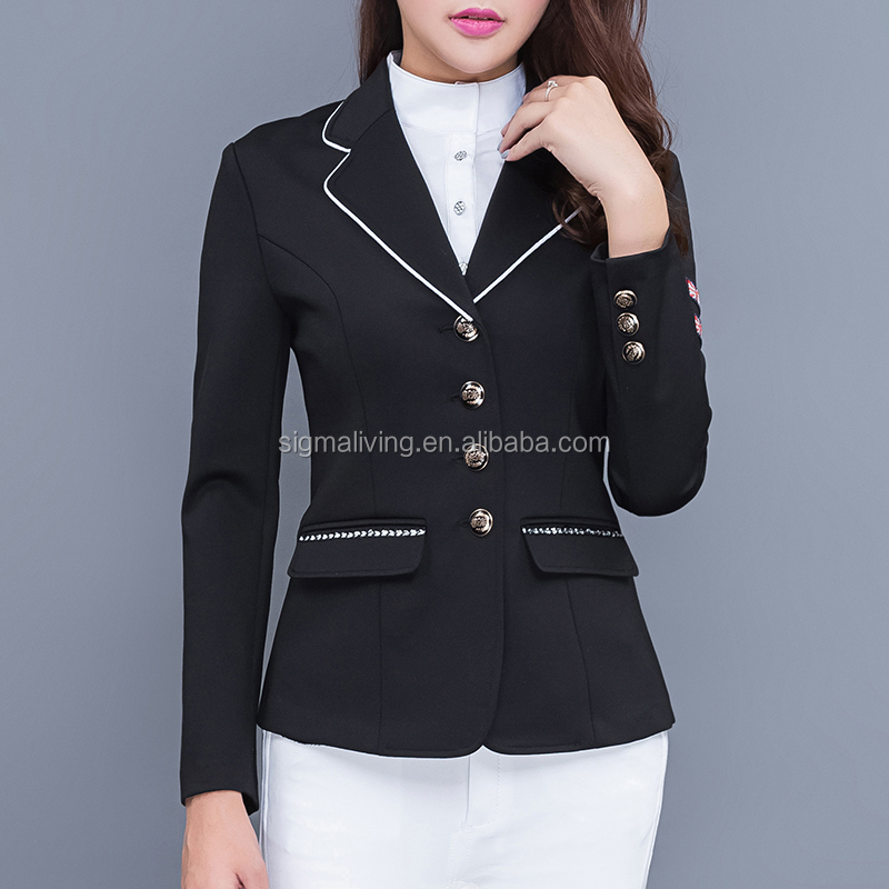 Equestrian supplies men's and women's same race suit professional equestrian riding  jacket