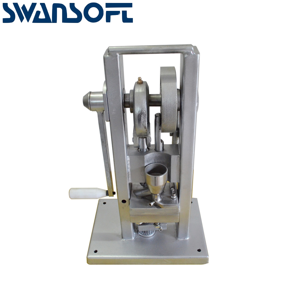 SWANSOFT TDP-0 15kg Manual Tablet Press Tablet Press Tdp Hand Held <strong>Pill</strong> PressWhole Sale TDP-0 mini desktop manual Tablet press
