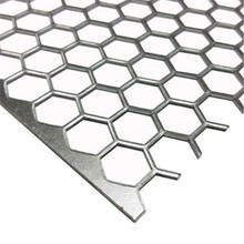 Factory high Decorative Hexagonal <strong>hole</strong> punching net Perforated Metal Aluminum outdoor Mesh Security Screen In China Low Price