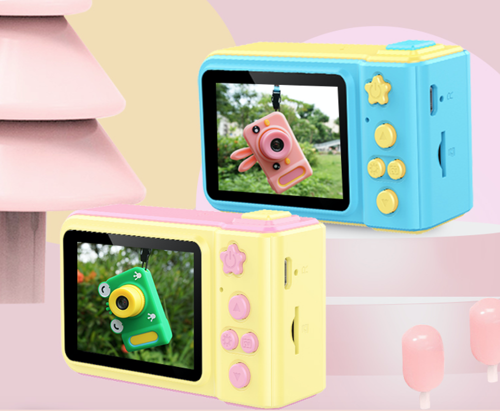 Wholesale 2.0inch IPS <strong>Screen</strong> 1080P Digital Kids Camera with Game/MP3 Cute Digital Children Camera