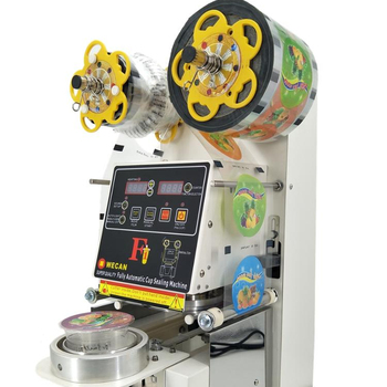 CE approved plastic bubble tea cup sealer machine for boba tea cup sealing