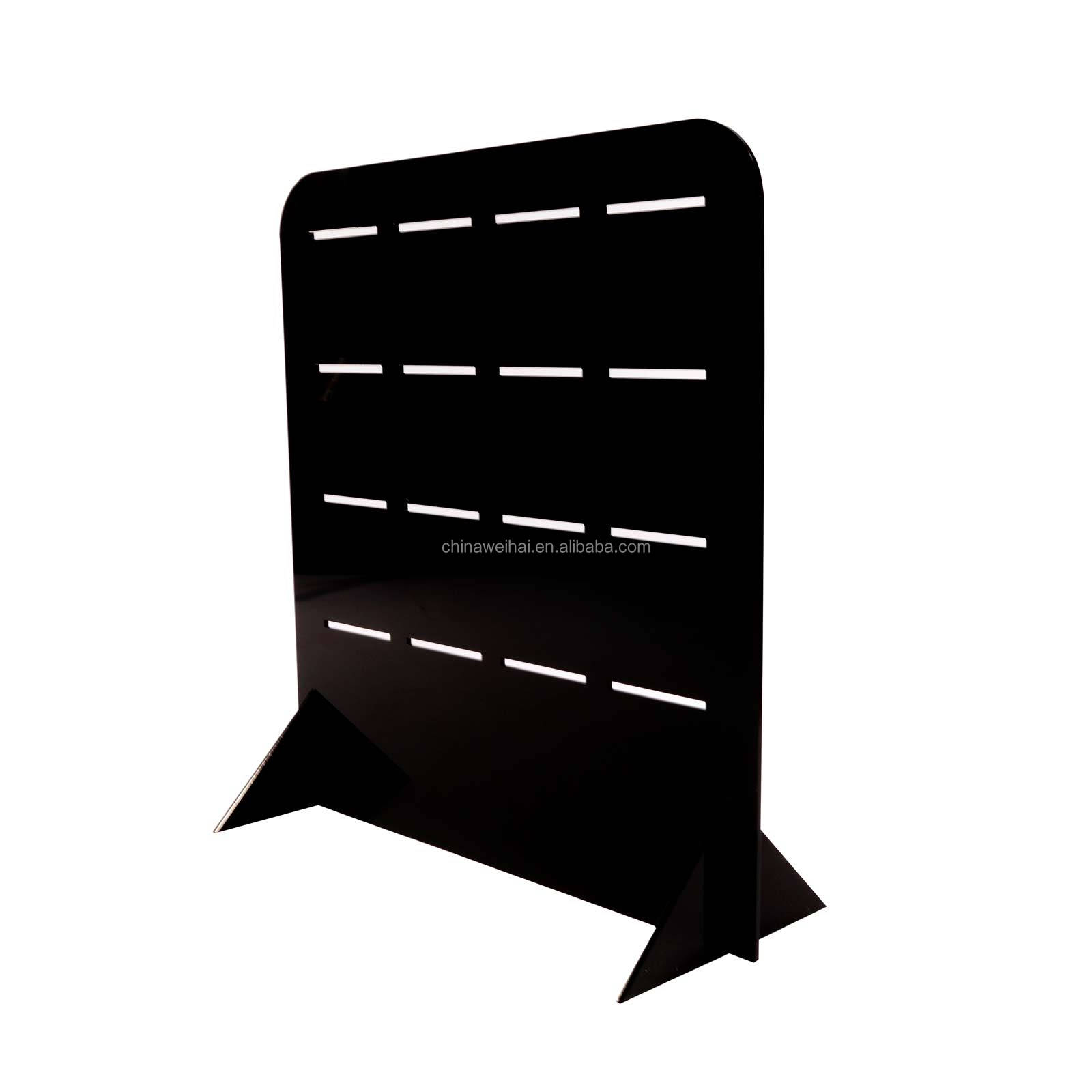 Black Acrylic Counter hook display stand