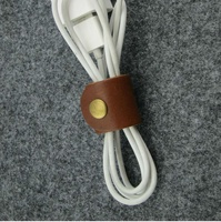 Leather Cable Band-Handmade Leather USB/Earphone Cable band
