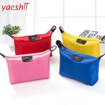 Yaeshii Dumpling Shape Polyester Fabric Cosmetic Bag