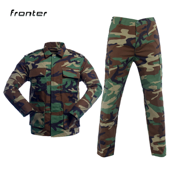 Wholesale BDU Uniform T/C 6535 Custom Combat Military Camouflage Tactical Army Uniform Jacket + Pant Uniform