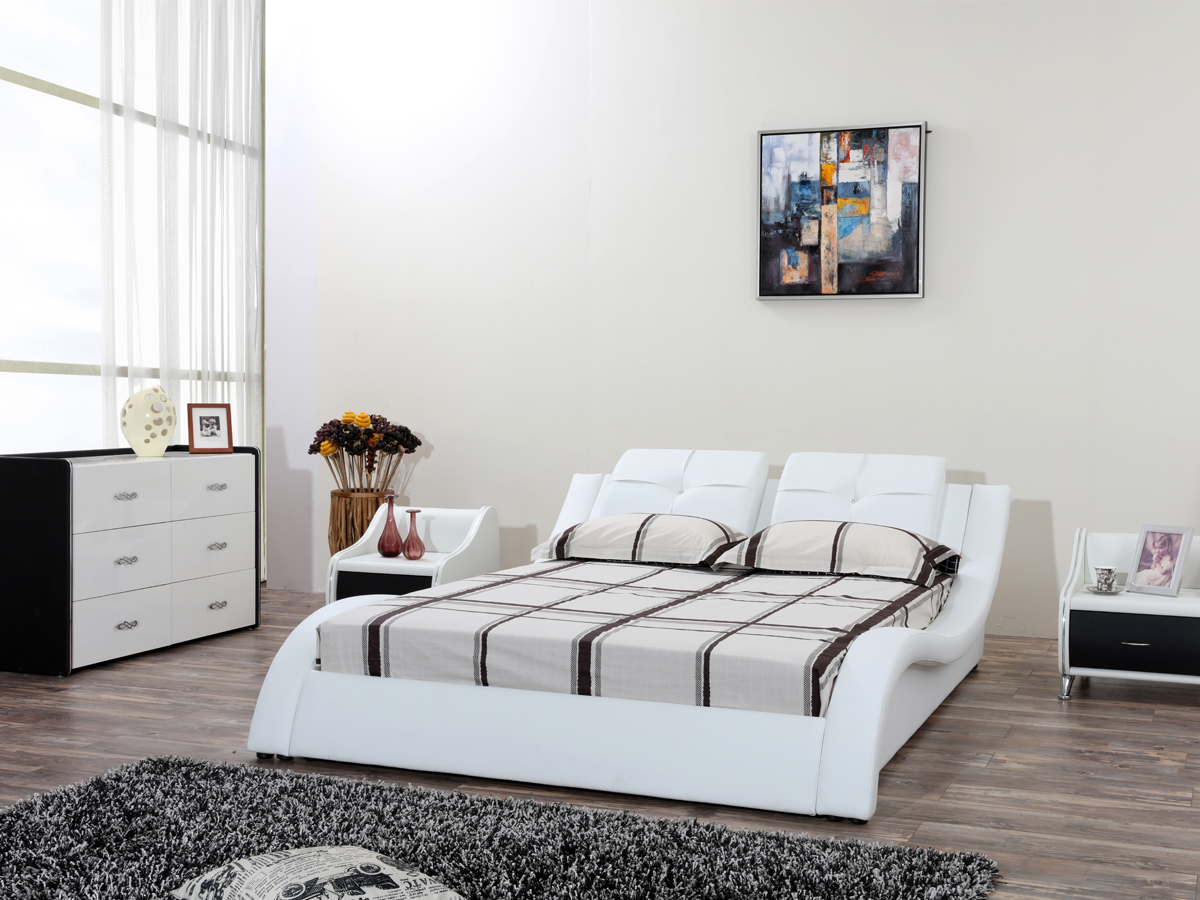 High quality unique design solid wood double day bed designs