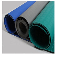 Anti-slip 3-8mm Thickness black, blue, grey vinyl pvc floor mat