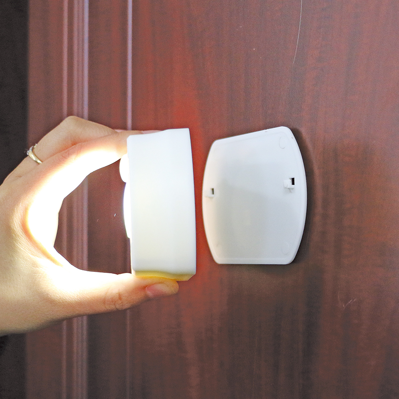 Indoor Battery Operated Corridor Cabinet Wireless Motion Sensor Night Light with Rotation