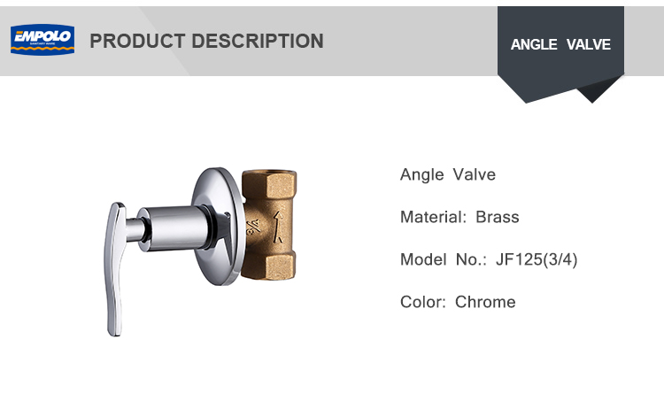 "Toilet High Pressure  Chrome Plated Finishing 3 4 Turn1/2"" Angle Valve"