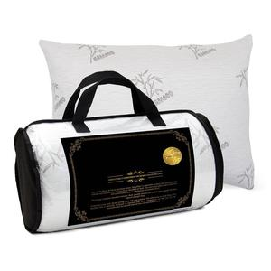 FREE SAMPLE! Adjustable Filling Gel Infused Shredded Memory Foam Pillow US Certipur Certified, Washable Bamboo Cover, Queen Size