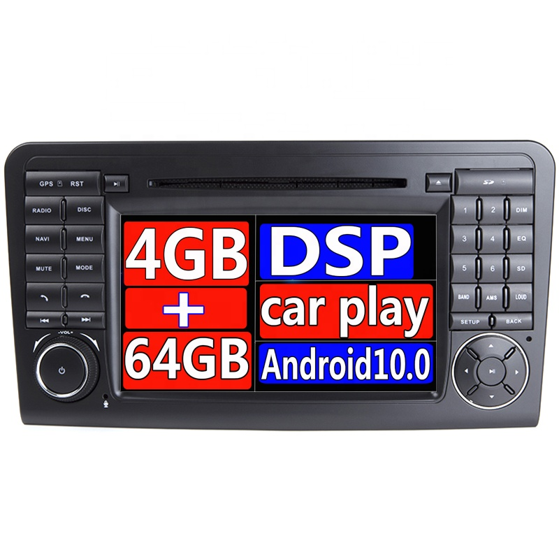 IPS Android 9.0 4G 64G CAR DVD player <strong>For</strong> Mercedes <strong>Benz</strong> CLASS ML <strong>W164</strong> X164 ML350 ML300 GL500 ML320 ML280 GL350 GL450 GPS radio