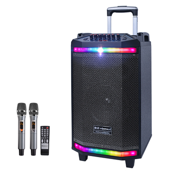 HT-V1 colorful LED light acoustic control USB cable power bank 8 inch full range party speaker