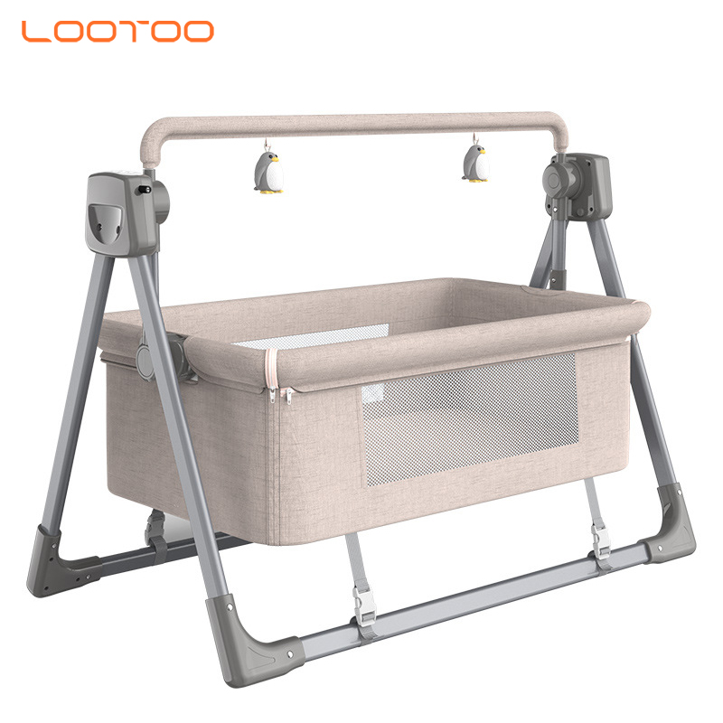 wholesale portable automatic nursery bedroom furniture bedding set luxury royal bassinet baby cribs for newborns boys kids