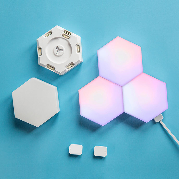 6 colors Quantum lamp Hexagonal lamps modular touch sensitive lighting magnetic hexagons creative decoration wall lamps