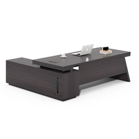 Luxury Modern Furniture Manager Table L Shaped Side Cabinet Executive CEO Office Desk