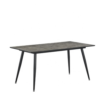 new design HPL dining table with powder coating metal legs hot sale dining table  for dining room furniture