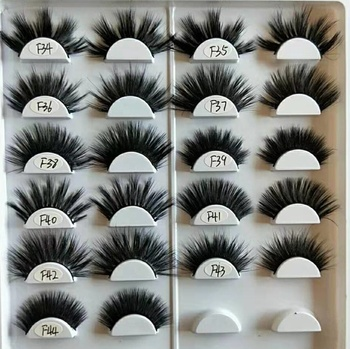 Beautiful False Eyelashes Korea Makeup Private Label 25mm 3d Mink Eyelash