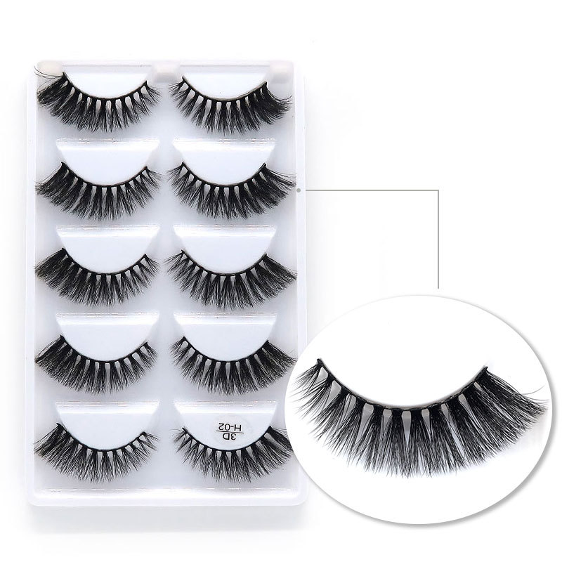 wholesale high-grade 3D false eyelashes natural dense eyelashes 5 pairs