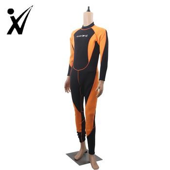 Customized plus size womens 5mm neoprene breathable diving wetsuit