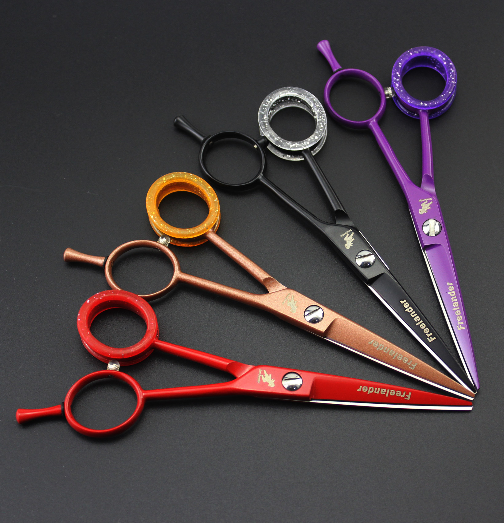 5.5-Inch Paint Imported A-Word Plain Cut Hair Rubber Finger Ring 4 Colors Can Be Selected