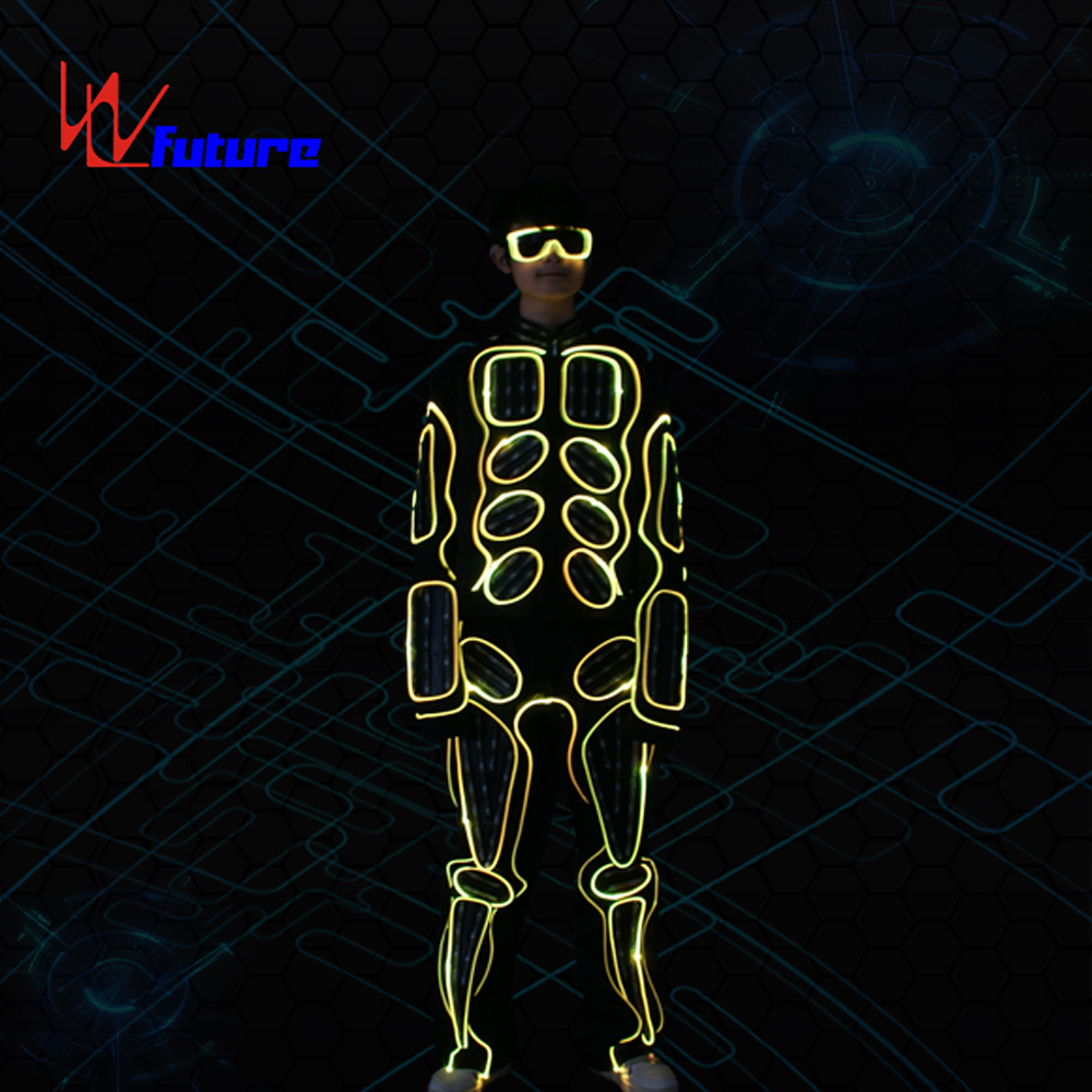 Fiber Optic & LED Light Tron Dance Suits LED Robot Costume performance wear Halloween Glow Party Dance Costumes LED Suits