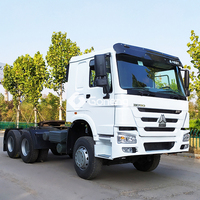 diesel second hand trailer head truck sinotruk howo used 10 wheeler tractor truck head 336hp-420hp euro for sale