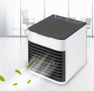 3 in 1 Mini Mobile Personal Space Cool Air Ultra, Humidifier, Purifier and 7 Colors LED Night Cooling Air Conditioner,