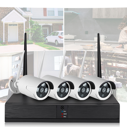 M7 <strong>WiFI</strong> H.265 NVR Kit 4CH 1080P Outdoor camera with 4CH NVR CCTV IP Camera System