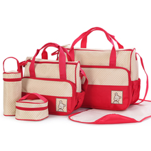 5pc Baby Changing Diaper Storage Bag / Mummy Mother <strong>Handbag</strong> / Baby Diaper Bags