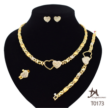 T0173 african High quality 24k gold plating jewelry set