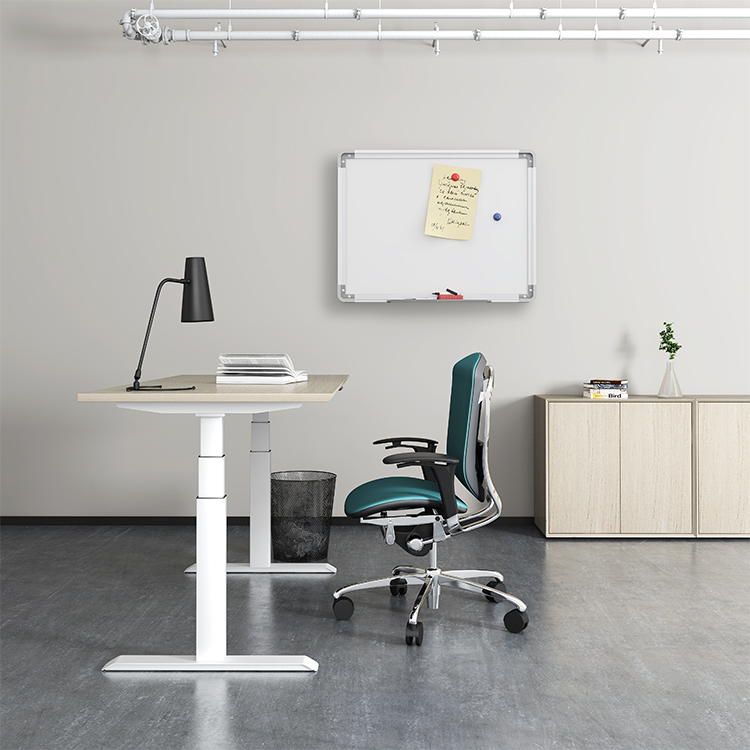 Steady structure stand and sit desk staff electric height adjustable desk
