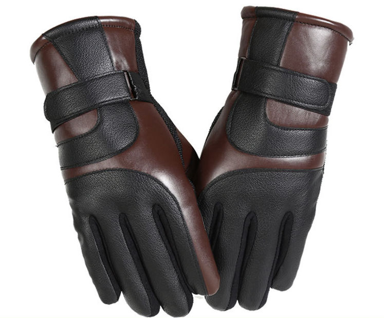 Q56 Hot Sale PU Leather Unisex Fleece Lined <strong>Touch</strong> Screen Gloves Waterproof Windproof Motorcycle Gloves