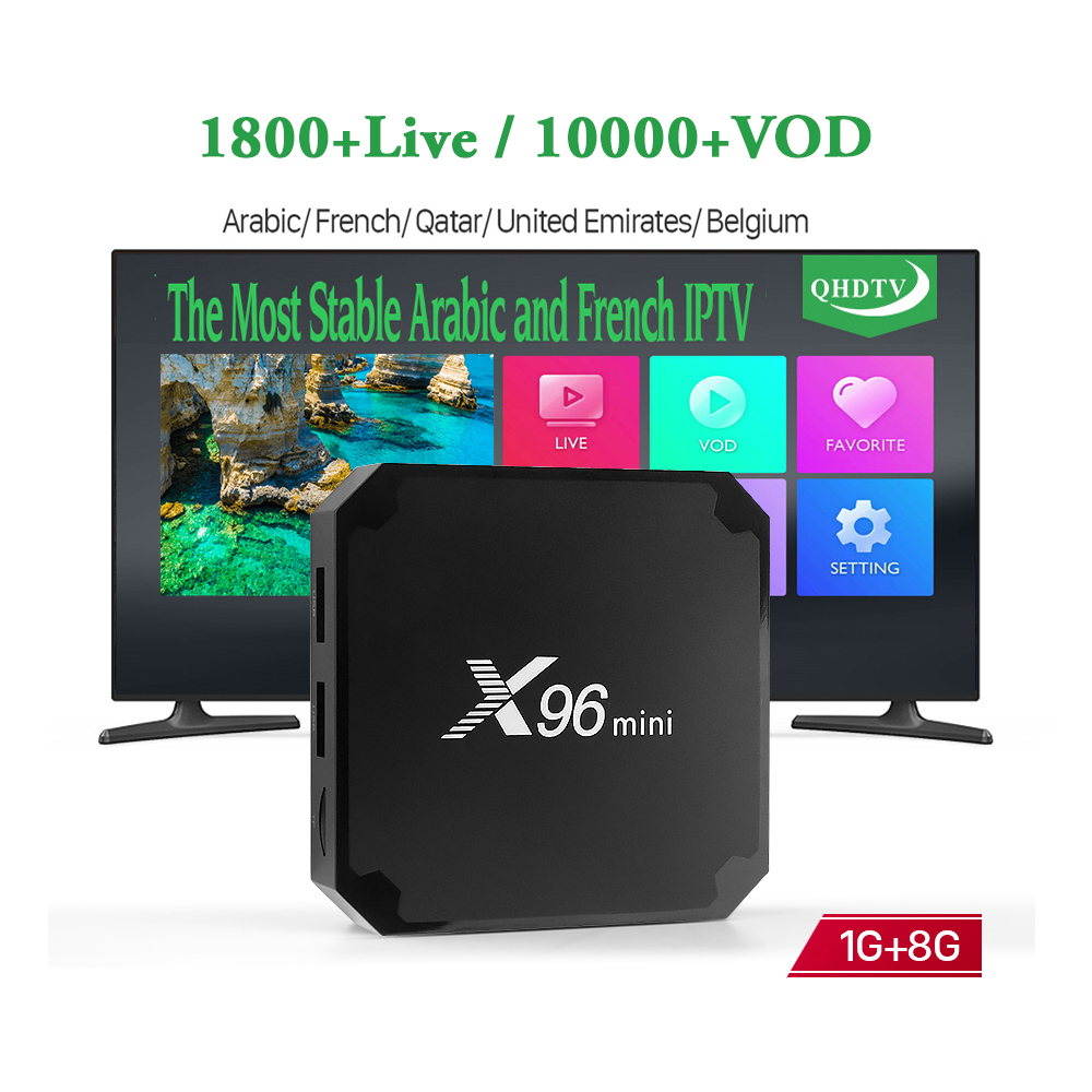 X96 mini <strong>Android</strong> 7.1 Smart 4K IP TV Box 1 Year QHDTV Code Subscription Europe Belgium Channels X96mini French Arabic IPTV Box