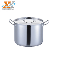 Factory Price Stainless Steel Cooking Pots Induction Straight Stock Pots