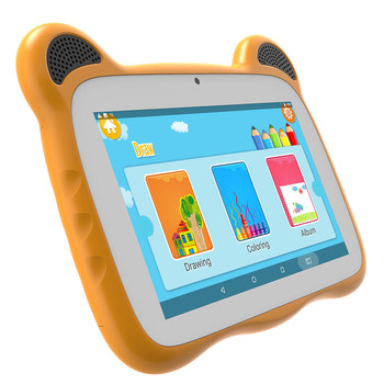 "7 inch baby tiger style 7"" IPS screen wifi tablet pc with bluetooth 4.0 two webcom for kids children school education"