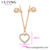 46349 xuping 2020 jewelry heart shape women design 18k gold plated charm necklace