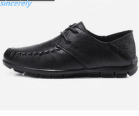 wholesale OEM outdoor lace up business daily wear genuine leather loafer soft casual driving men shoes