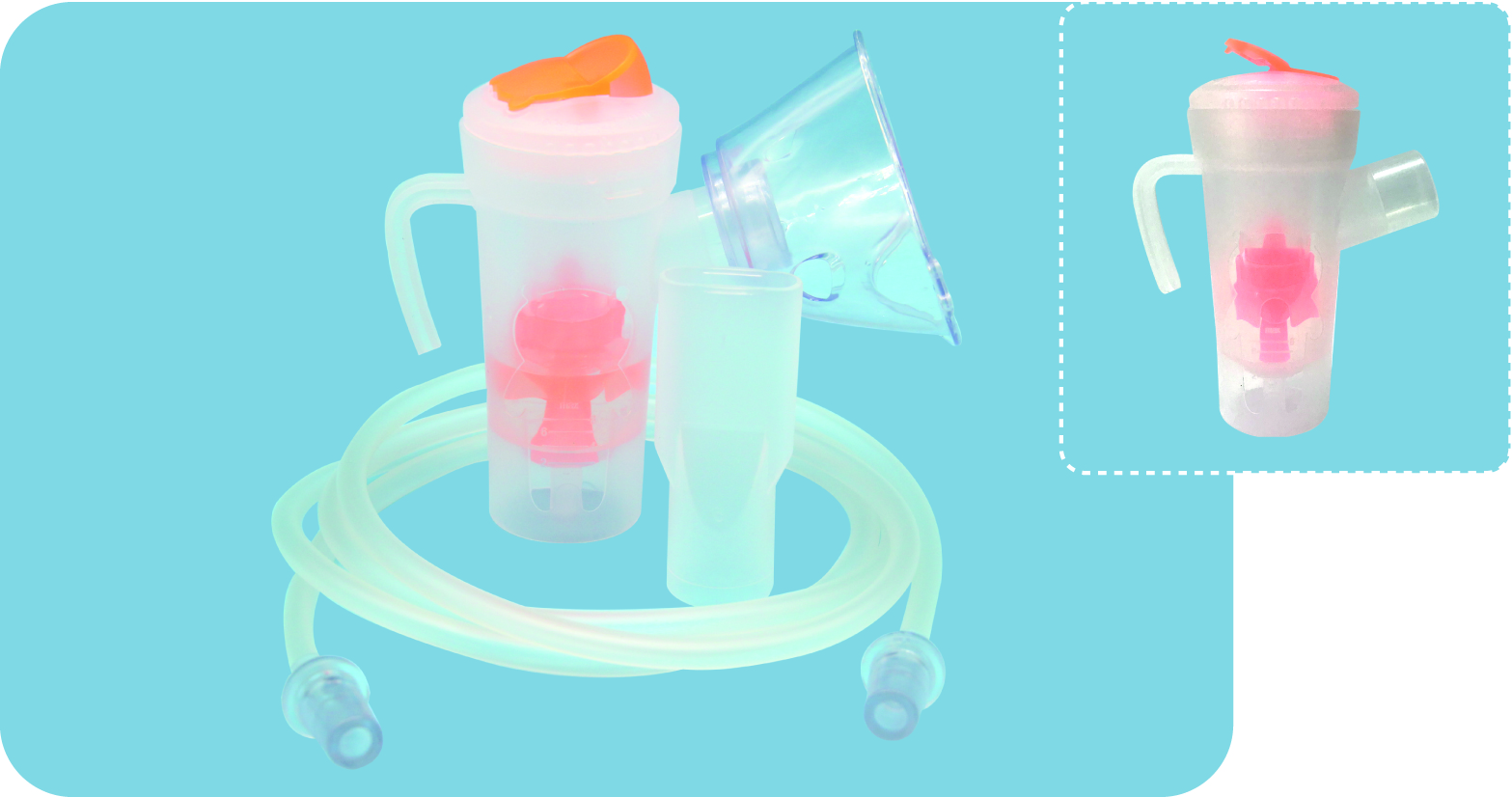 Disposable medical sterile nebulizer kit