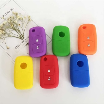 Silicone car key protection case fob for VW 2 buttons Amarok Golf Mk4 Mk5 Citi Crafter Lupo folding key cover