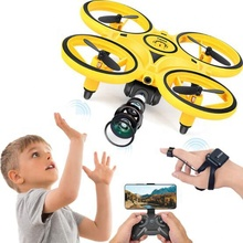 2020 Newest 3-In-1 RC Induction Hand Watch Gesture Control Mini UFO Quadcopter Drone With <strong>Camera</strong> And Led Light Levitation Toys