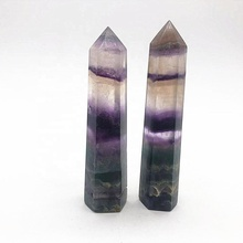Wholesale Natural Healing Quartz Rainbow fluorite Crystal <strong>Points</strong>