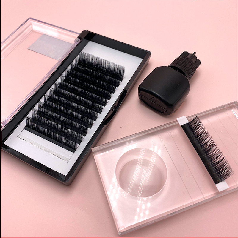 Wholesale eyelashes private label, pre made volume fans mink lashes, mink individual eyelash extension