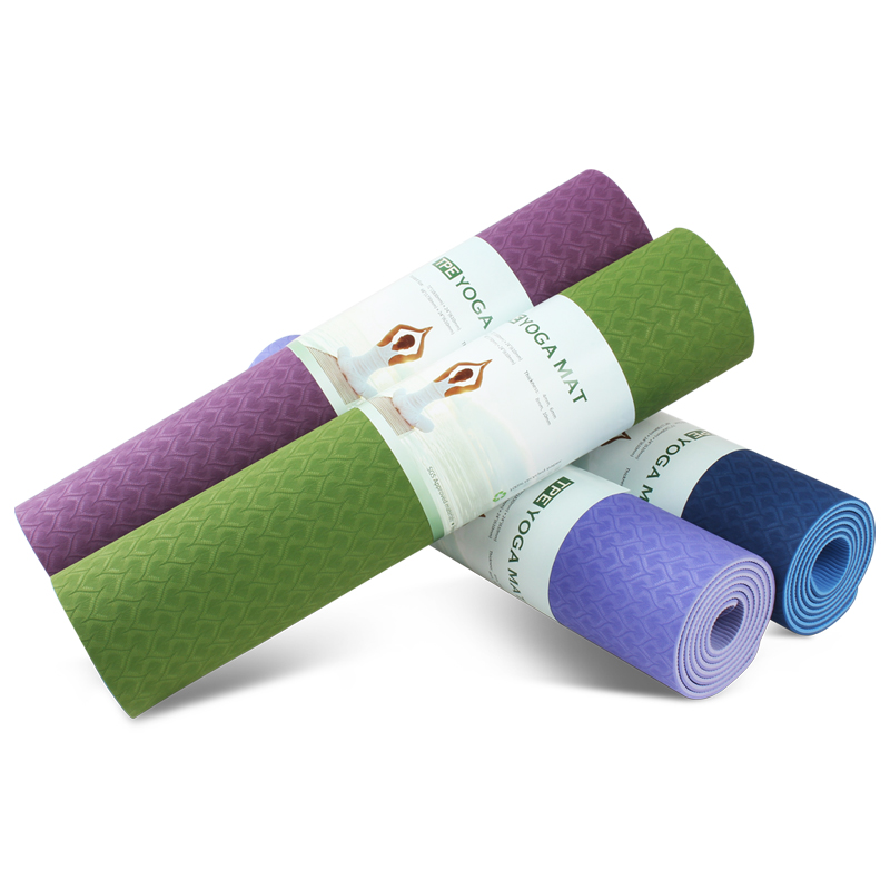 Home Exercise Gym <strong>Fitness</strong> 6mm Two Layer Printed Yoga Mat