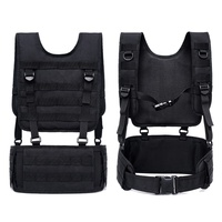 Adjustable Tactical Vest Belt Suit Military Waist Kit Molle Outdoor Removable Belt Hunting Vest