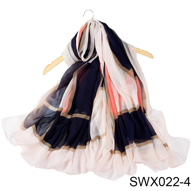 High Quality Woman Fashion Digital Printed Scarf Custom Pattern Scarves