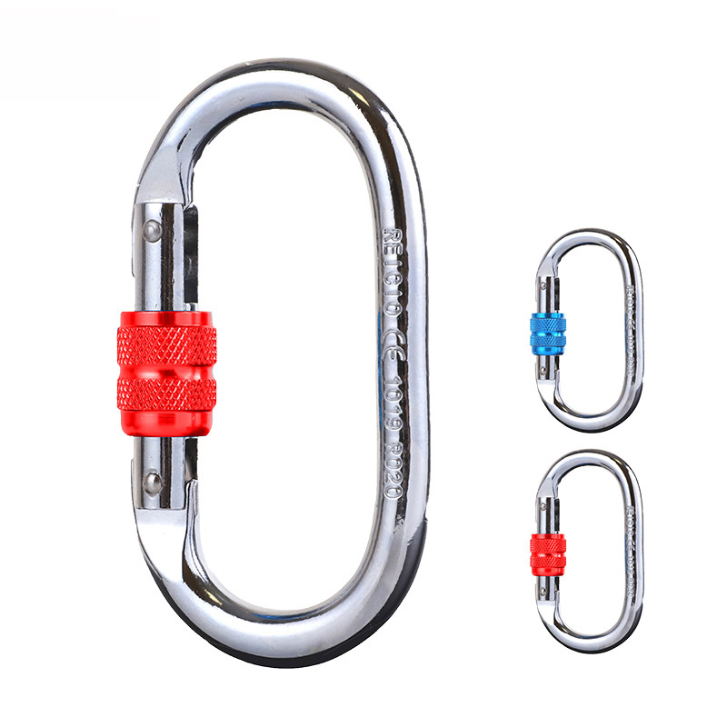 Outdoor climbing 25KN O type safety carabiner <strong>hooks</strong> snap