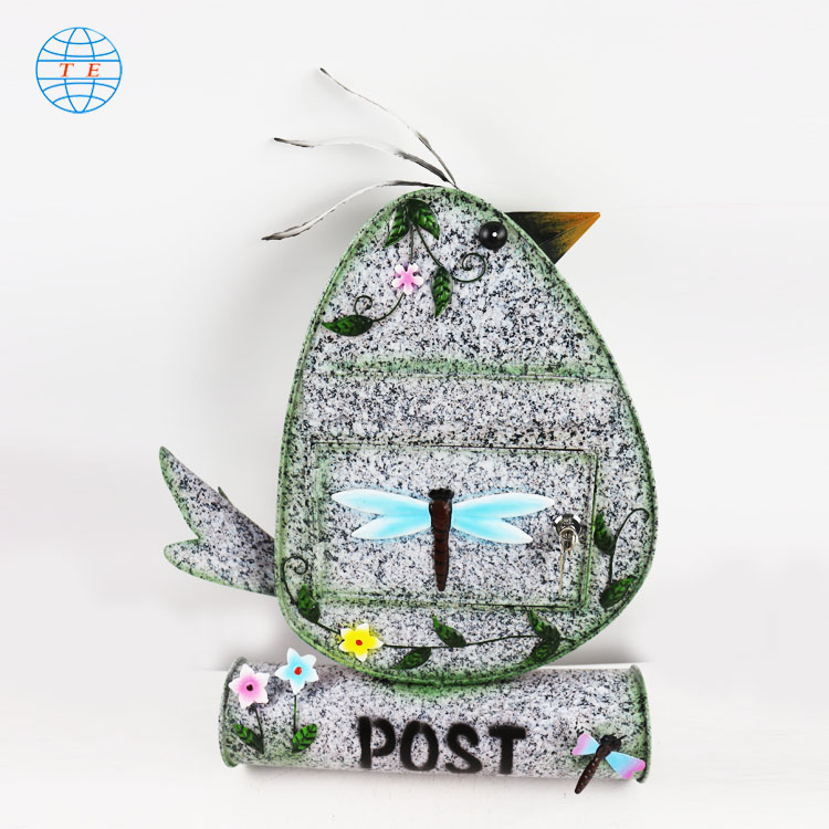 Creative cute bird letterbox fashion beautiful metal mailbox
