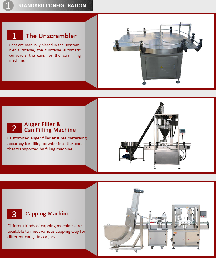 High Quality Auto Professional Pneumatic Can Filling Capping Machine