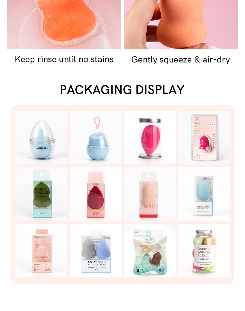 make up foundation and powder magic sponge beauty tools makeup sponge free samples latex free set private label with holder